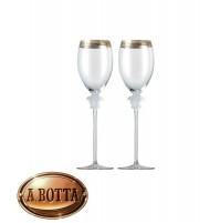 Rosenthal Versace Medusa d'Or Set Servizio 2 Calici Vino Bianco 263 mm Bicchieri