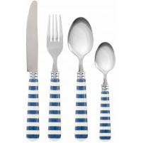 SET 4 POSATE COMPOSEE RUGBY BLU BRANDANI 55172 coltello forchetta cucchiaio