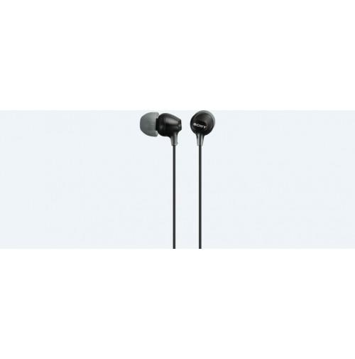 SONY MDR-EX15AP Cuffie Auricolari Nero con Connettore JACK 3,5mm con Microfono