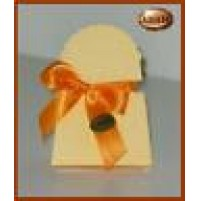 Scatolina bomboniera borsetta colore arancio 10pz- 13323 Matrimonio Battesimo -