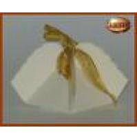 Scatolina bomboniera fagottino colore avorio 10pz - 13028 Matrimonio Battesimo -