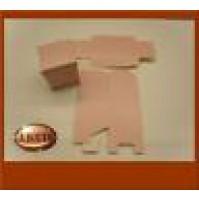 Scatolina per bomboniere cubetto a quadretti bianchi e rosa 5357011 Matrimonio