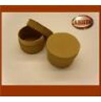 Scatolina per bomboniere in cartoncino naturale onda marrone - 7617 Matrimonio -