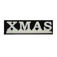 Scritta Natalizia in Legno XMAS Bianco 33,5 x 9 cm - Decorazione Decoro Natale