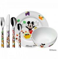 Servizio bimbo 6 pz Mickey Mouse WMF Set posate e piatto