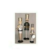 Set 3 Statue Sculture BADEN Musicanti Musicisti in Resina - Statue Sculpture