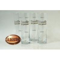 Set 4 Bicchieri Birra BLONDIE in Vetro Altezza 17,5 cm Ø 5 cm - NC04 Beer Glass