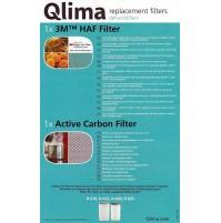 Set Filtri x Deumidificatori QLIMA D610 D612 D620 D625 Ricambio Originale QLIMA