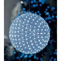 Sfera Luminosa con 100 Fiorellini a Led da Esterno Ø 15 cm - Luce Fredda Natale