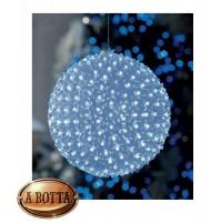 Sfera Luminosa con 200 Fiorellini Led da Esterno Ø 21,5 cm - Luce Fredda Natale