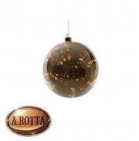 Sfera di Natale Luminosa Vetro a Specchio Ø 20 cm 40 Led LUCE CALDA  - Natalizia