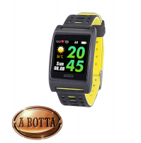 Smartwatch Fitness Cardio Smartband Trevi T-FIT 280 GPS Giallo IP67 Android iOS