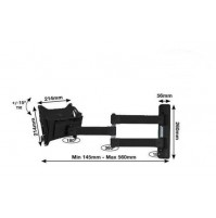 Staffa Universale per Supporto TV Televisore Led LCD BTech BT7535 B Fino a 40 kg
