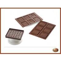 Stampo in Silicone Biscotti/Placchette/Gelee Cookie Snowman  SILIKOMART