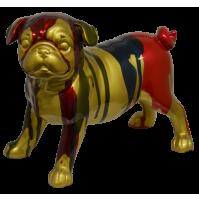 Statua Scultura AMBIENTI GLAMOUR Gold Dog Cane