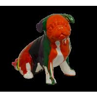 Statua Scultura AMBIENTI GLAMOUR Pop Bulldog Cane