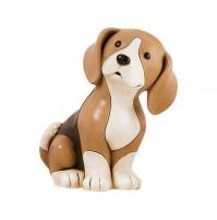 Statua Scultura Cane Beagle Seduto EGAN 14x18cm