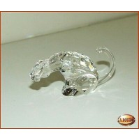 Statua in Cristallo S-Dream Crystal Leopardo Seduto 9x4 cm - Statuina Scultura -