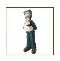Statua in Resina decorata a mano Caricatura PROFESSORE Originale ANTARTIDEE