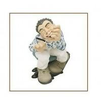 Statua in Resina decorata a mano Caricatura RAGIONIERE Originale ANTARTIDEE