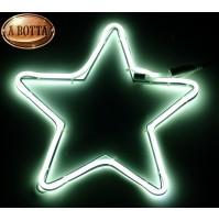 Stella Luminosa Bifacciale con 120 Led da Esterno Ø 29 cm - Luce Fredda Natale
