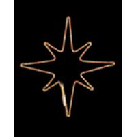 Stella Luminosa con 300 Led da Esterno 54x54 cm - Luce Calda Natale Bifacciale