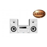 Stereo HiFi TREVI HCX 1080 BT 40 Watt con Bluetooth NFC USB CD Mp3 Radio Bianco