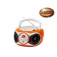 Stereo Lettore CD Portatile Trevi CD 512 Boombox Arancione Radio AM/FM e Aux IN