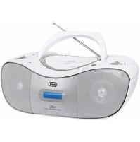 Stereo Portatile CD Mp3 con Radio DAB FM Trevi CMP582 Bianco AUX-IN USB