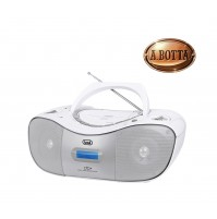 Stereo Portatile CD Mp3 con Radio DAB FM Trevi CMP582 Bianco AUX-IN USB