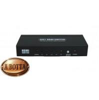 Switch HDMI a 5 Ingressi 5in1 Telecomando Karma SW 5 Full HD 1080p Audio Video