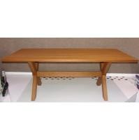 Tavolo Rettangolare in Legno 200 x 90 cm H. 76 cm Scherzer Baviera colore Noce