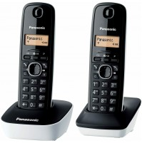 Telefono Cordless Duo Panasonic KXTG1612 JTW Dect Bianco/Nero - 50 Nomi