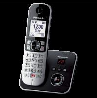 Telefono Cordless Panasonic KX-TG6861 JTB Nero con Segreteria e Vivavoce