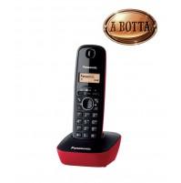 Telefono Cordless Panasonic KXTG1611JTR Rosso - Rubrica 50 Nomi Retroilluminato