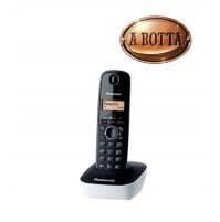 Telefono Cordless Panasonic KXTG1611JTW Bianco - Rubrica 50 Nomi Retroilluminato