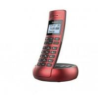 Telefono Fisso Cordless Senz Fili SAIET Cobra Rosso Vivavoce Rubrica Display LCD