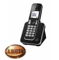 Telefono Fisso Cordless Senza Filo DECT Panasonic KX-TGD310 Nero  120 Nomi
