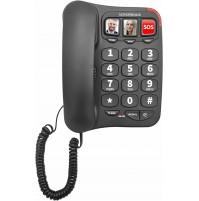 Telefono Fisso Facilitato Senior Nordmende EASYHOME100 Nero Tasti Grandi + SOS