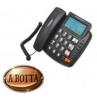 Telefono Fisso Facilitato Senior Nordmende EASYHOME200LCD Nero Tasti Grandi SOS