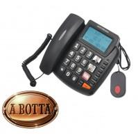 Telefono Fisso Facilitato Senior Nordmende EASYHOME300SOS Nero Tasti Grandi SOS