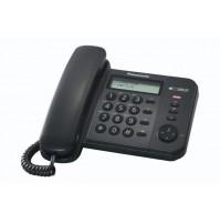 Telefono Fisso Panasonic KXTS560EX1B Nero Sistema Telefonico Integrato Display