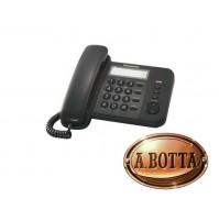 Telefono Fisso con Filo Panasonic KX-TS520EX1B Nero Casa Ufficio Negozio