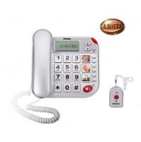 Telefono Fisso con Filo Tasti Grandi e Telecomando SOS BRONDI Super Bravo Plus