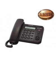 Telefono Fisso con ID Panasonic KX-TS560EX1B Nero Sistema Telefonico Integrato