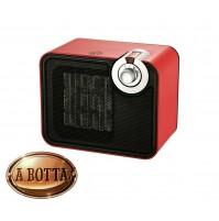 Termoventilatore 1500 Watt DCG SA9107 Rosso Stufa Elettrica Vintage 2 Potenze
