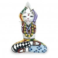 Tom's Drag Collection Scultura Animal Gatto Yoga Swami S 4429 Statua Design