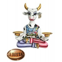 Tom's Drag Collection Scultura Mucca Yoga Cow Muni S 4445 17 cm - Statua Design