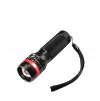 Torcia Tascabile a 1 LED 3 Watt con Zoom Karma FL 855 Nero  Waterproof Portatile