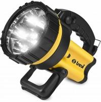 Torcia a 6 LED Ricaricabile Trevidea IL848 Torcione 3000 - Fascio Luce 20 Metri